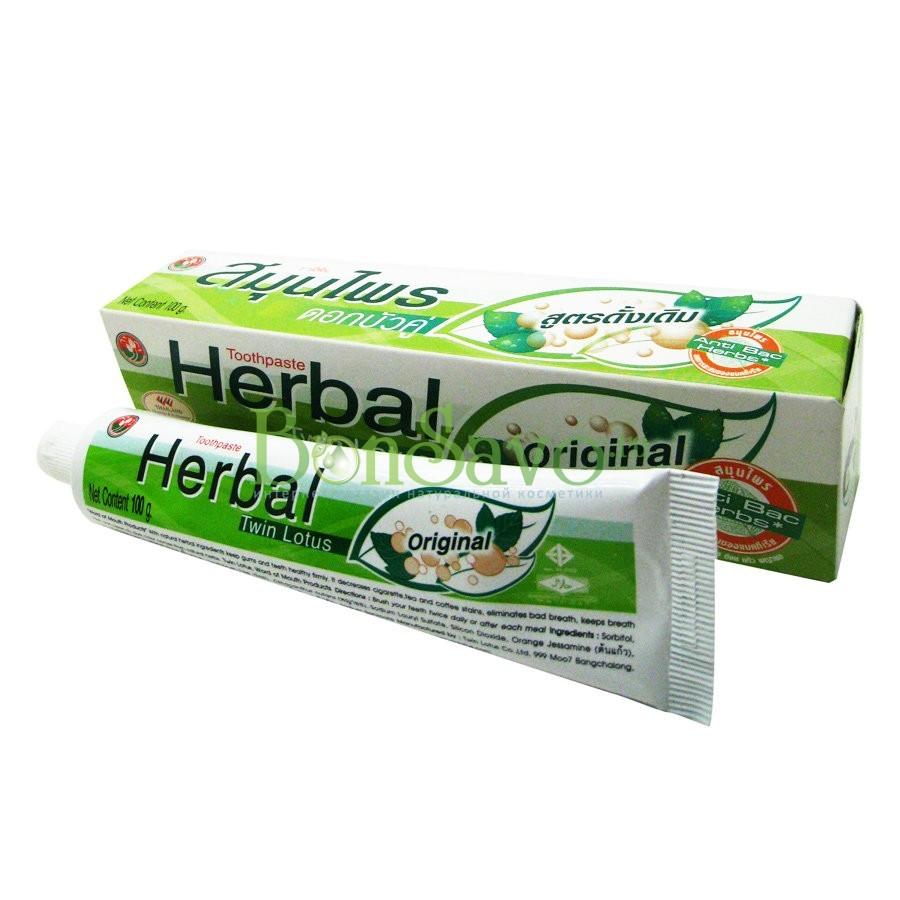Зубная паста Herbal Twin Lotus Original с травами оригинальная