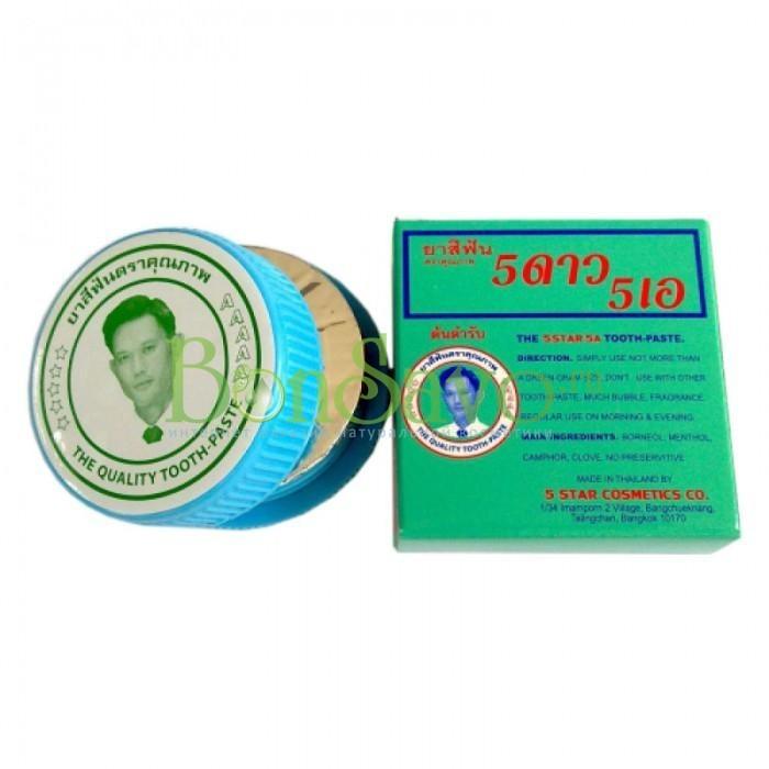 Травяная отбеливающая зубная паста 5А, 25 гр